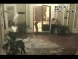 Violent Earthquake Strikes Mexican Hotel Lobby CCTV Camera