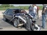 Violent Drag Racing WRECK - Crazy Video Angle