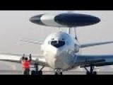 World Biggest Radar Plane Boeing AWACS E-3 Sentry In Action + BlackHawk Heavy Lift