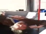 WTF - Man High As Fuck On Public Bus