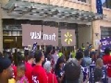 Workers And Fired Workers Blockade Wal-Mart Lobbying Office, Ten Arrests