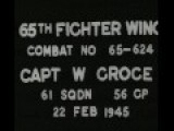 WWII Footage | 8th Air Force - 65th Fighter Wing | Guncam Low Quality