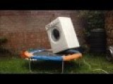Washing Machine Brick Bouncing On Trampoline