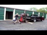 World's Dumbest Way To Load Vehicle Into A Truck