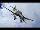 WW2 STUKA Ju87G Shooting T34, T35, A9 10 Cruiser Tanks With Anti Tank Gun Combat Camera Video