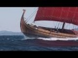 Watch A Real Viking Ship Sail Through A Storm In The Atlantic