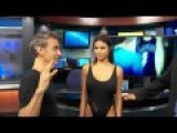 Watch This Guy Cut Up Miss Hawaii's Swimsuit On TV News, What He Creates Is Beautiful