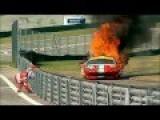 World Endurance Championship - Toni Vilander's Ferrari Catching On Fire!