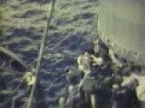 WW2 Carrier Hit Search & Rescue Activities 1945 Full