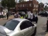 White Guy RUNS OVER Ferguson Protesters