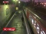 Woman Rides Train Trapped Between Doors