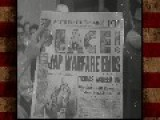 WWII Footage | Post-war | V-J Day Celebration General Patton Reviews Artillery