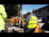 Water Meter Worker At Work In Raheny