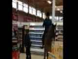 Woman Rides 29ca Horse Into Tescos For Dare