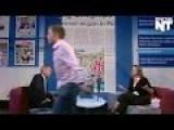 Wanker Storms Off TV Set All Mad About Homosexuals - LMFAO!