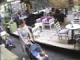 Woman Jumps From 4th Floor Building On Cafe Table