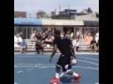 Wow He Is Amazing Basket Ball Trick