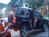 Woman Tries To Drive Off While Being Towed WATCH WHAT HAPPENS NEXT