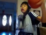 Weird Asian Kid Kills A Basketball With Vacuum Cleaner