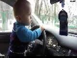 WTF - Baby Driving Car In Russia