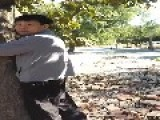 WTF: Asian Man Caught Humping A Tree!