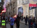 Watch Right Sector Detonate Explosives In Central Kiev