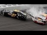 Wreck At The Finish Of NASCAR Nationwide Race At Daytona