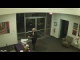 Woman Caught On Camera Stealing Laptop With Wine In Hand