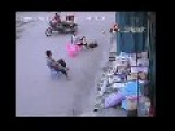Woman Vs Robbers On Scooter