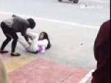 Wife Stomps Husband's Girlfriend In Crotch