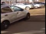 Woman Driver Smashes Into 17 Parked Cars While Talking On Her Phone