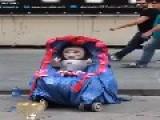 Weird Baby Street Performance