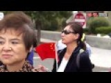 Women Pushed To Ground By US Police For Blocking Chinese President Motorcade