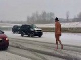 WATCH: Naked Man In Cowboy Hat Walks Down Highway, Cops Not Surprised