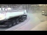 Wheels From A Truck Explodes
