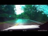 Wet Roadway Leads To Slow Motion Head On