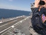 X-47B Stealth Touch-And-Go Landing USS George H.W. Bush