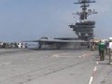 X-47B UCAS Stealth And F A-18 Super Hornet Operations USS Theodore Roosevelt CVN 71 HD