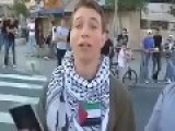 Young American Jew Stands Up For Palestine.israel Palestine, Israeli Wars