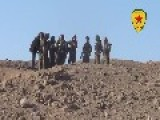 YPG Raise The Flag At Tall Shair Hill