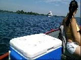 Yatch From The Cayman Islands And A Cargo Ship From Cyprus Morrisburg,Ontario, Canada