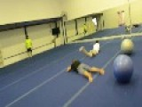 Yoga Ball Collision Fail