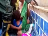 Young Girl Gets Arm Stuck In Swimming Pool Vent