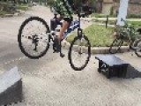 Young Bicyclist Faceplants Ramp