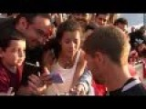 Young American Girl Goes Crazy When She Meets Her Football Soccer Hero Steven Gerrard In USA