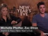 Zac Efron And Michelle Pfeiffer Talk Improv And Scene Crashing In New Year&#39 S Eve