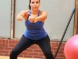 Leg Workout For Women: Box Step And Squat Warm-Ups