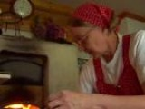 Preparing Finnish Rye Bread In Karelia