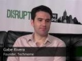 Gabe Rivera Backstage At Disrupt
