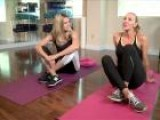 Exercising During Comercial Breaks With Heidi Klum